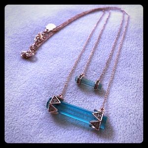 House of Harlow - Chrysalis Double Drop Necklace